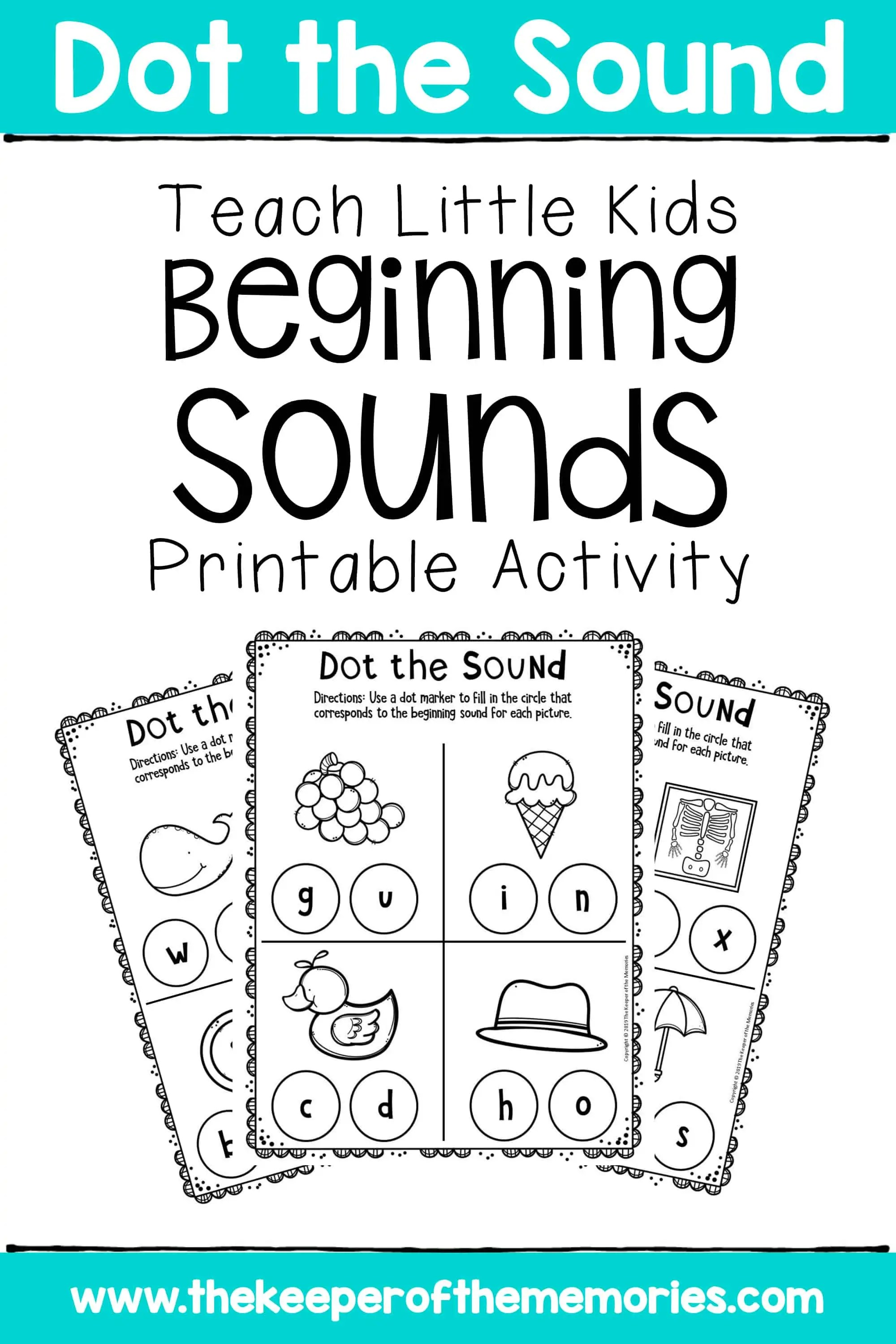 Preschool Worksheets Teach Little Kids Beginning Sounds