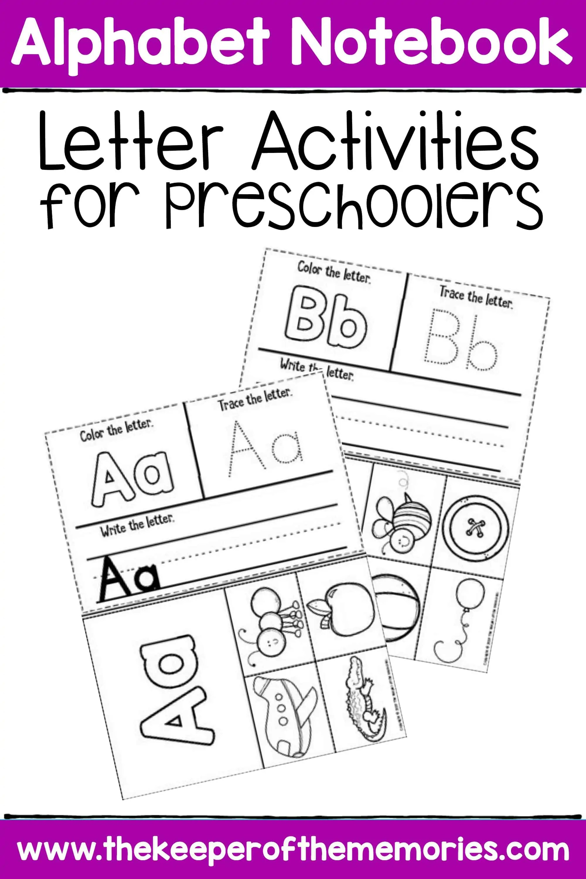 Letter Activities Preschool Worksheets