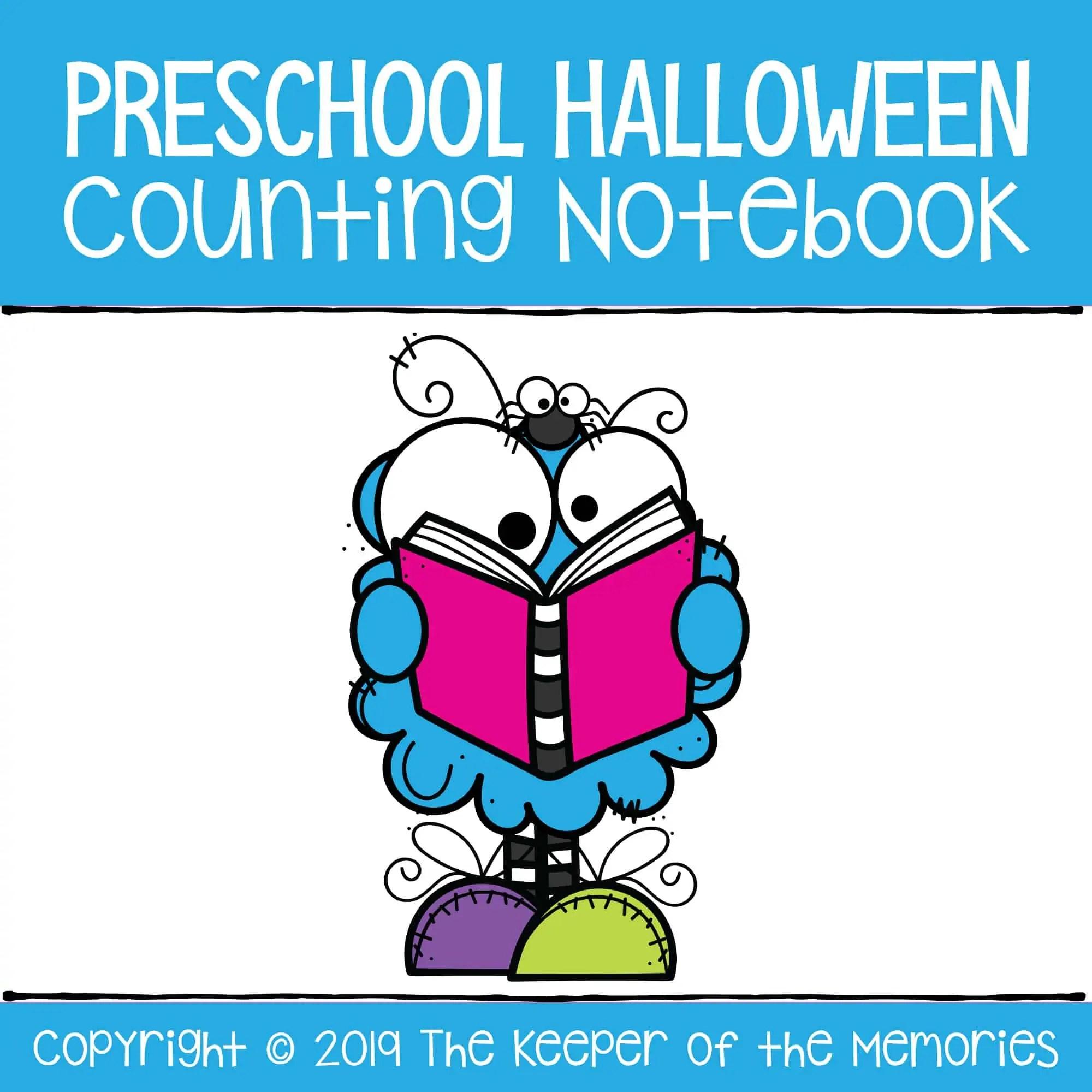 Preschool Halloween Printable Counting Notebook 1 10