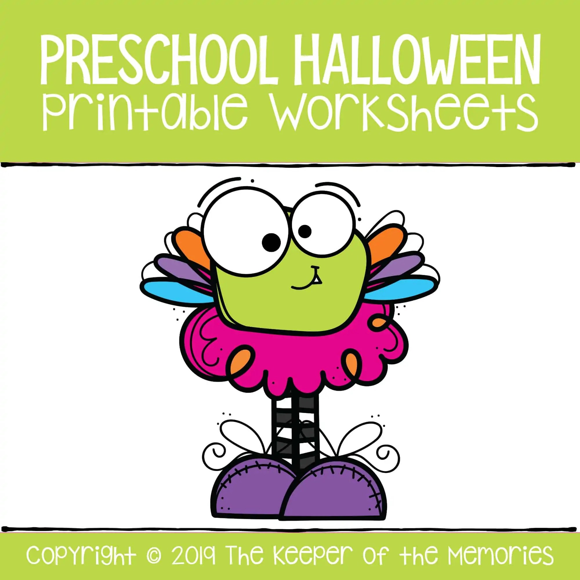 Preschool Halloween Printable Worksheets Math Number