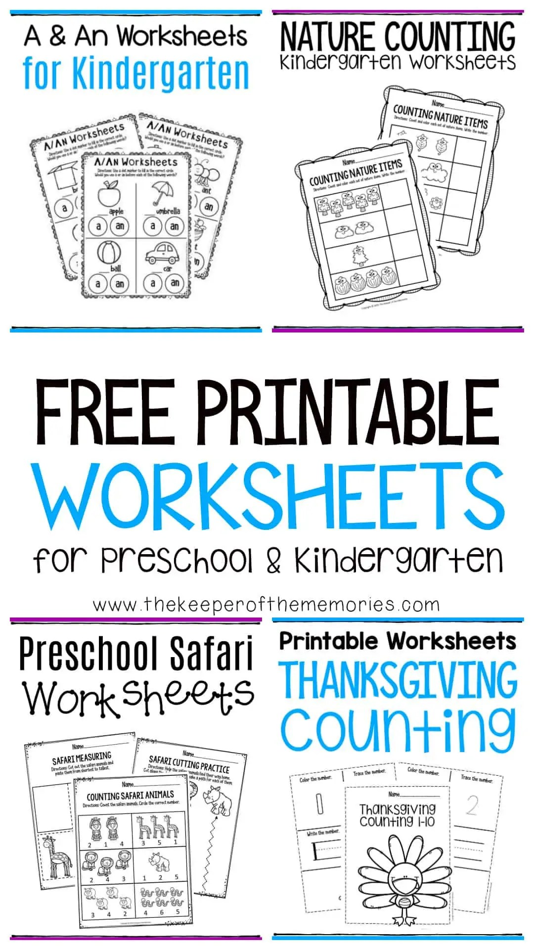 Free Printable Worksheets For Preschool Amp Kindergarten