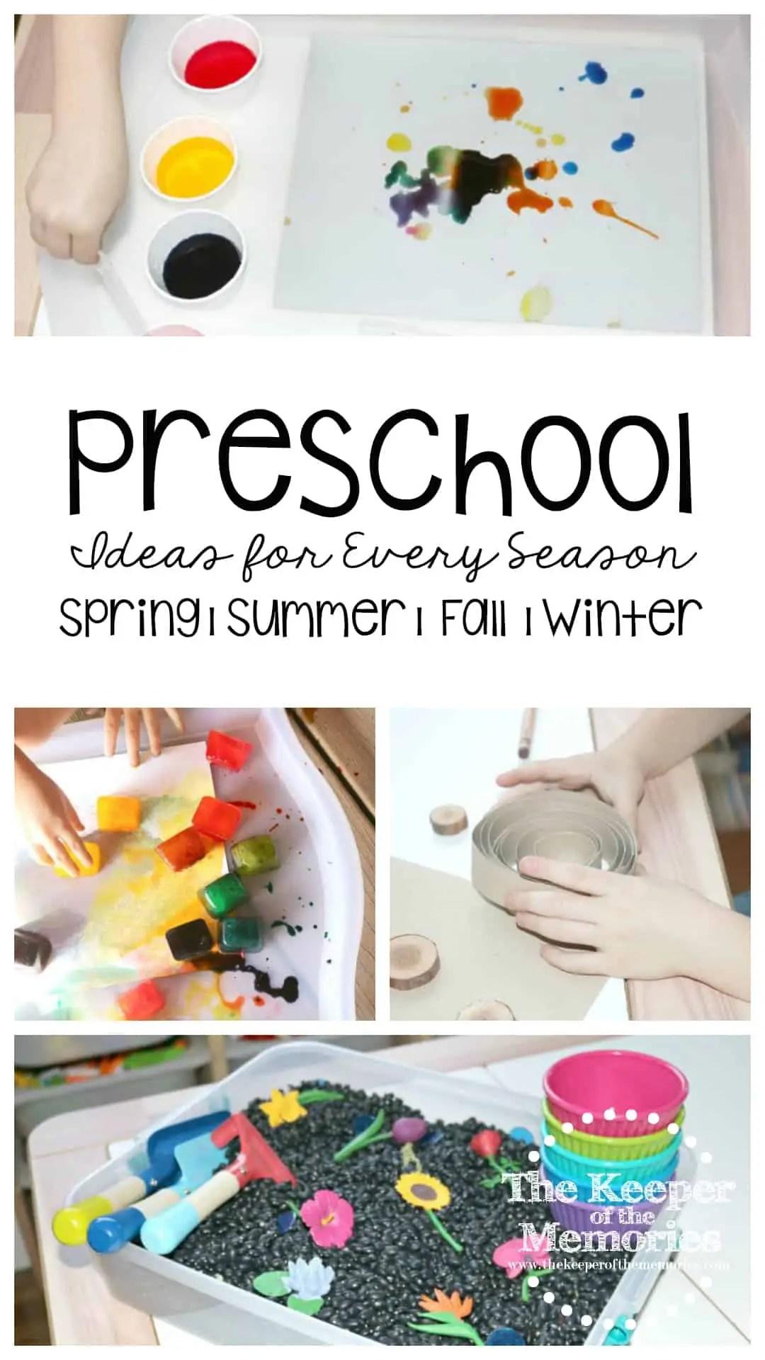 Preschool Ideas For Every Season