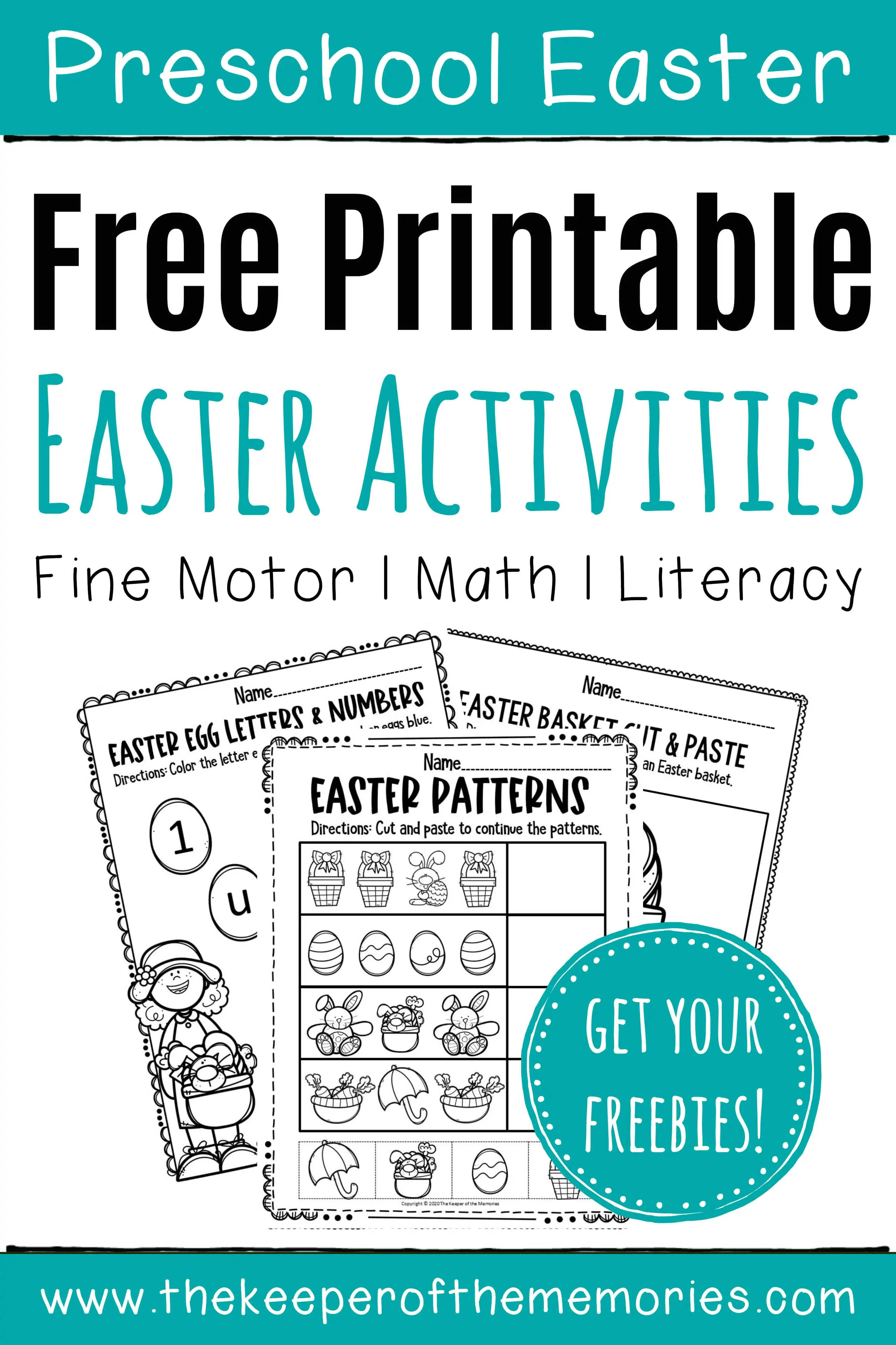 10 Free Easter Printables For Preschoolers