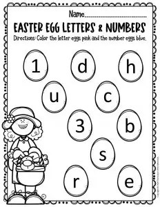 Free Printable Easter Eggs Math Literacy Activity The Keeper Of The Memories