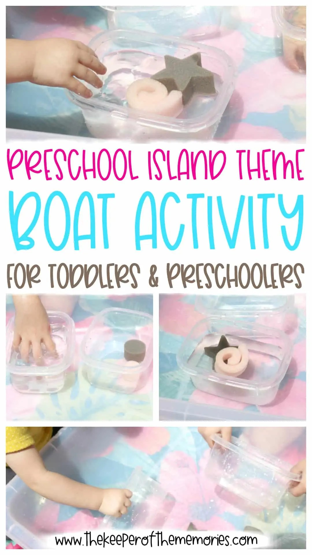 Preschool Island Theme Boat Activity For Toddlers