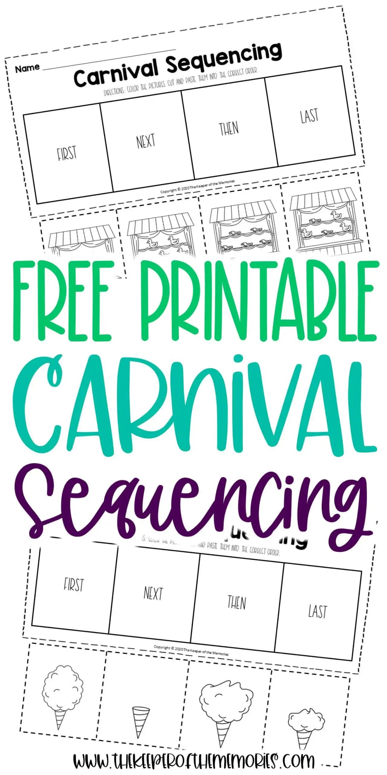 Carnival Sequencing Worksheets