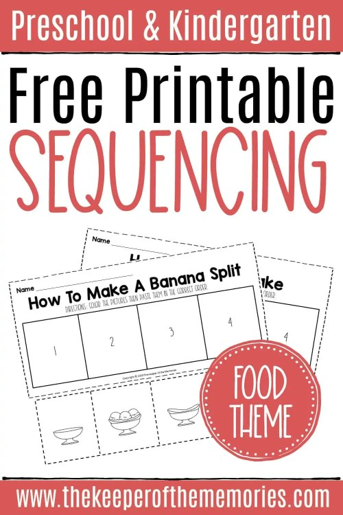 small resolution of Free Sequencing Cut and Paste Worksheets - The Keeper of the Memories