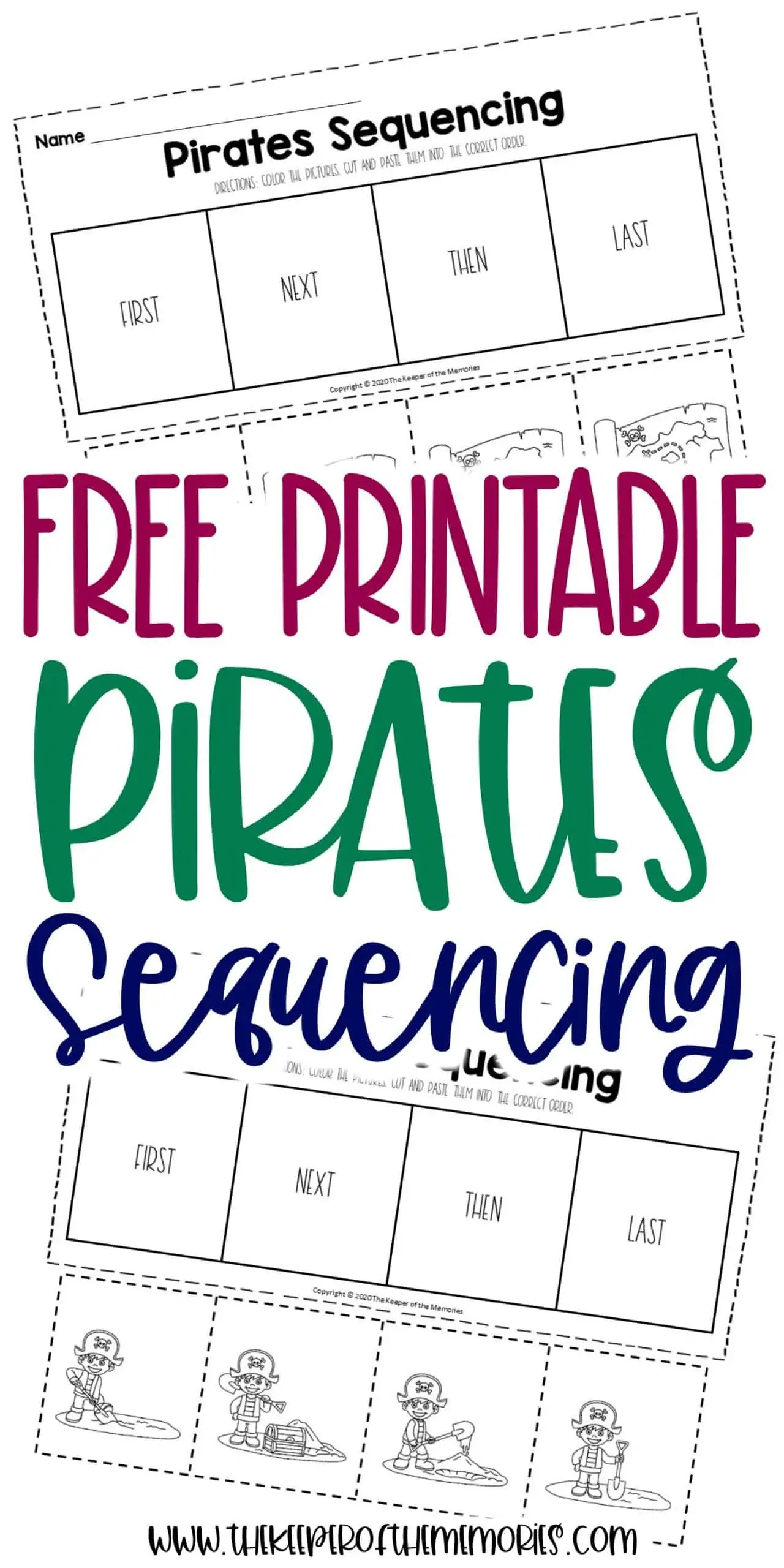 Pirates Sequencing Worksheets