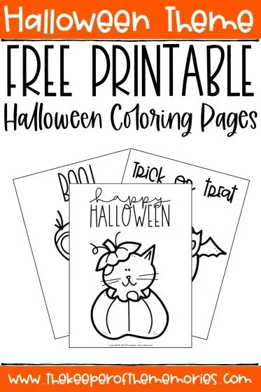 Free Printable Halloween Coloring Pages The Keeper Of The Memories