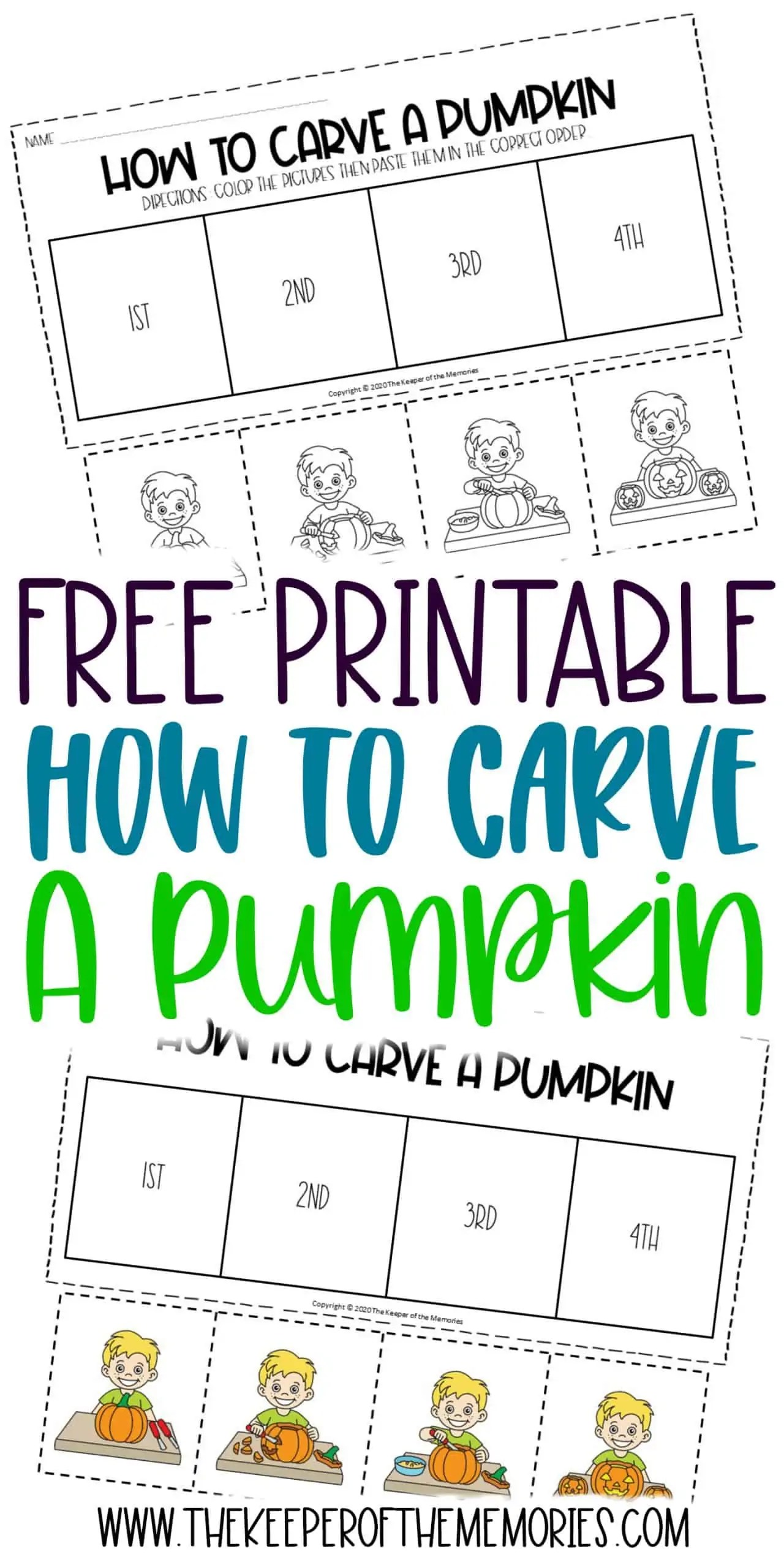 How To Carve A Pumpkin Sequencing Halloween Worksheets For