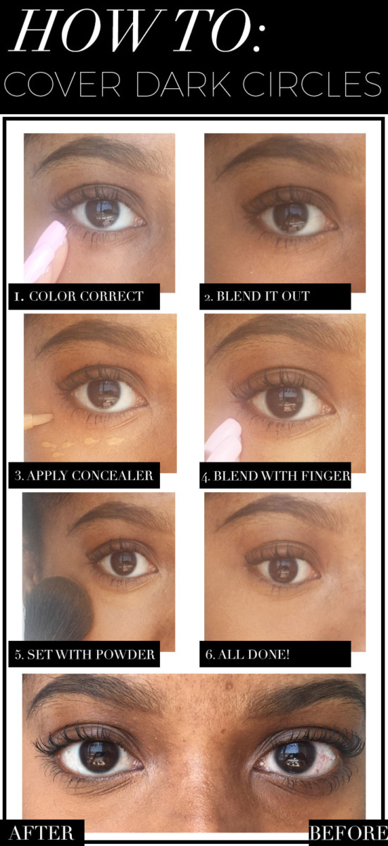 How To Cover Dark Circles And Under Eye Bags