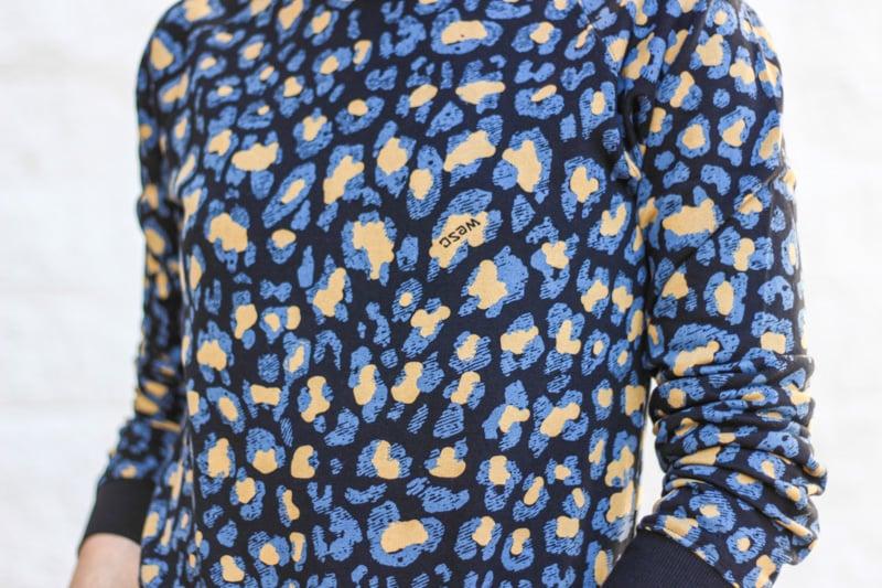 The Kentucky Gent in WeSC Digital Leopard Print Sweatshirt, WeSC Eddy Jeans, J Shoes, and Ray-Ban Wayfarers
