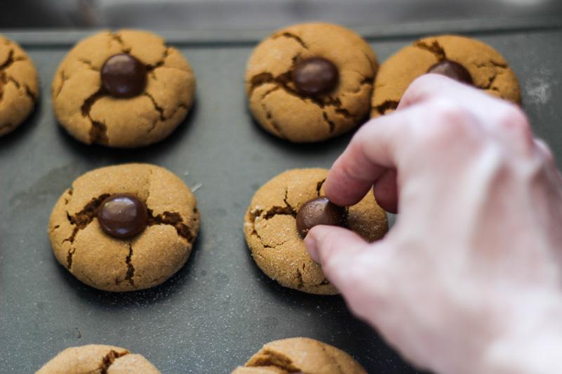 The Kentucky Gent Christmas Cookies Chocolate Kissed Gingerbread Cookies
