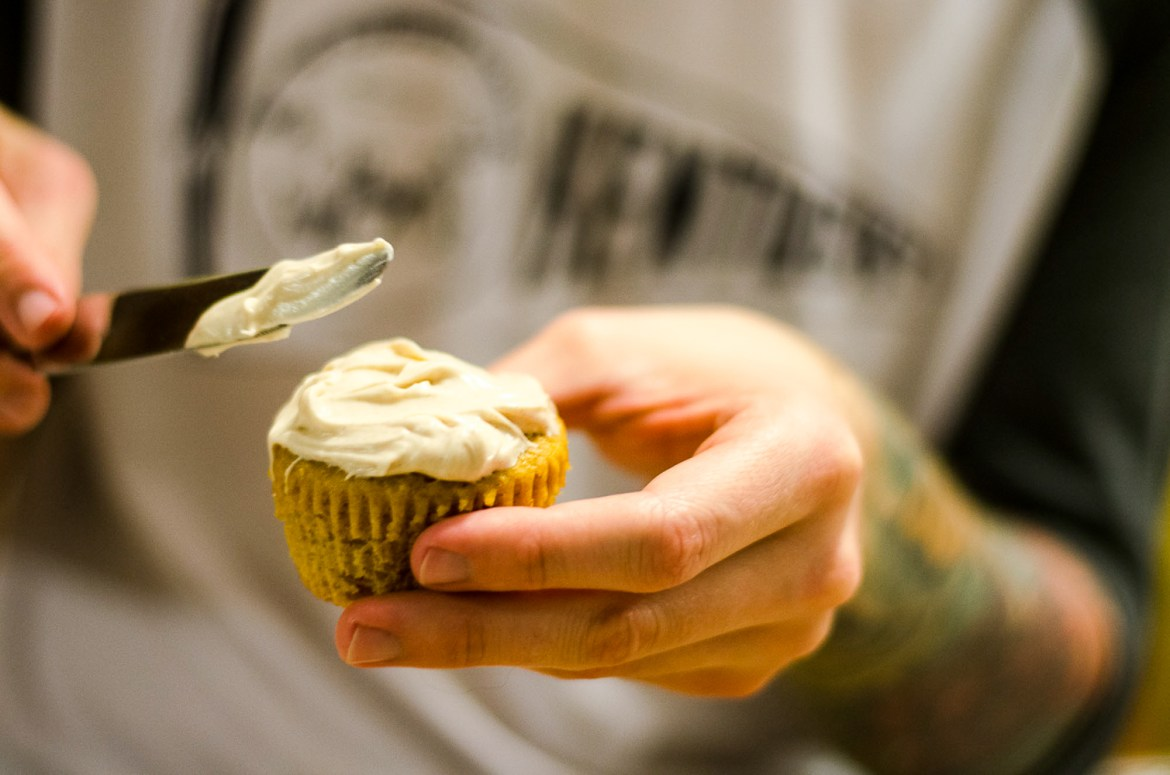 The Kentucky Gent, a Louisville, Kentucky life and style blogger, shares his recipe for Brown Butter Pumpkin Cupcakes with Cinnamon Cream Cheese Frosting.