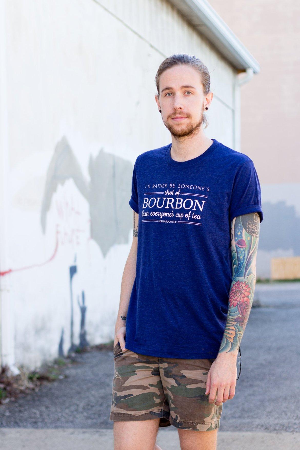 Her Kentucky Shot of Bourbon T-Shirt on The Kentucky Gent