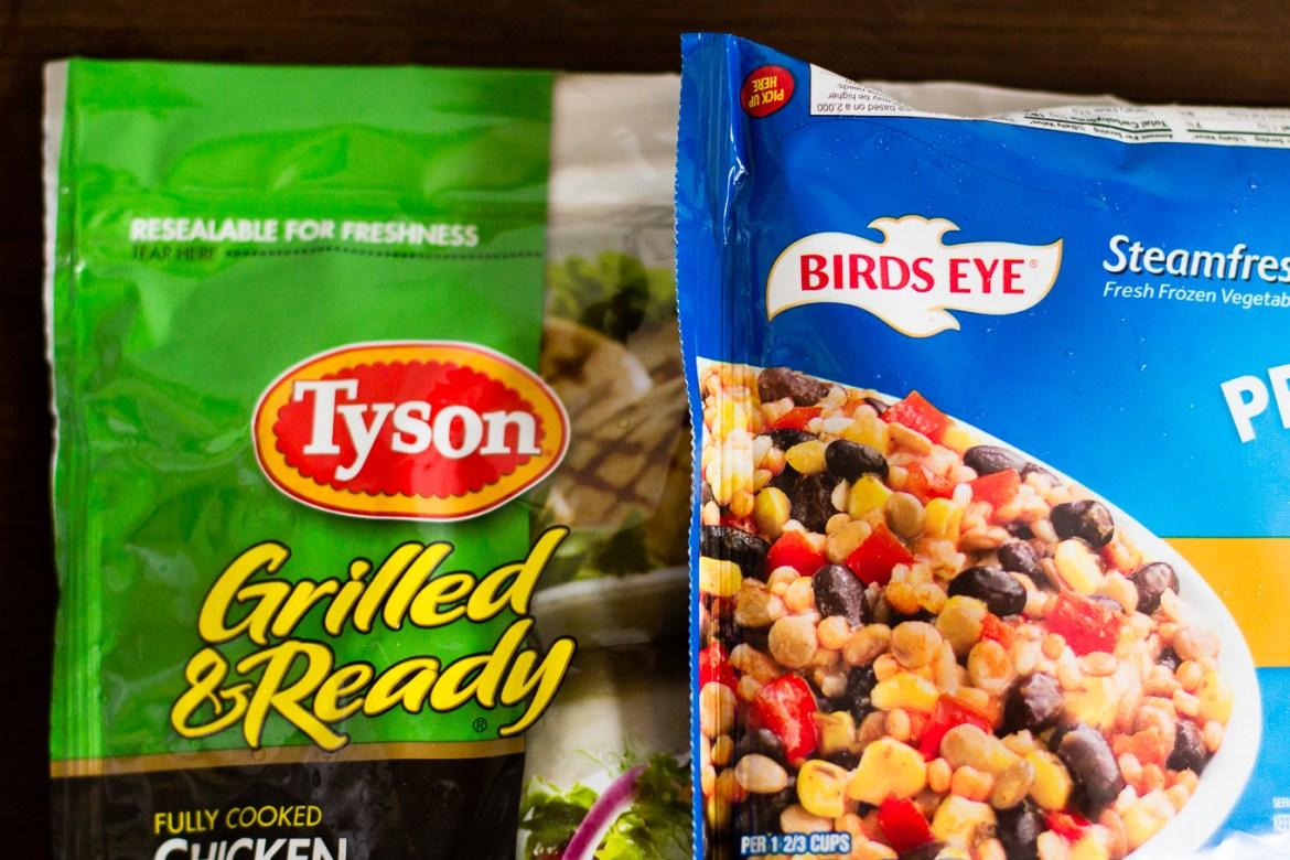 fast fresh filling, easy meals, how to cook quickly, tyson chicken, birds eye vegetables