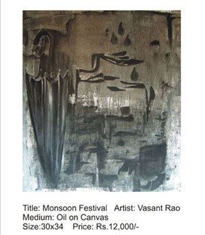 The monsoon festival painting by Vasant Rao
