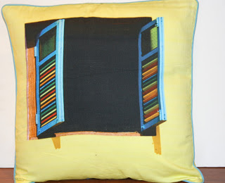 The Keybunch, old wood window 3d cushion cover by serenity