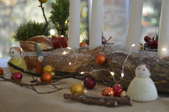 Christmas Wooden candle stand
