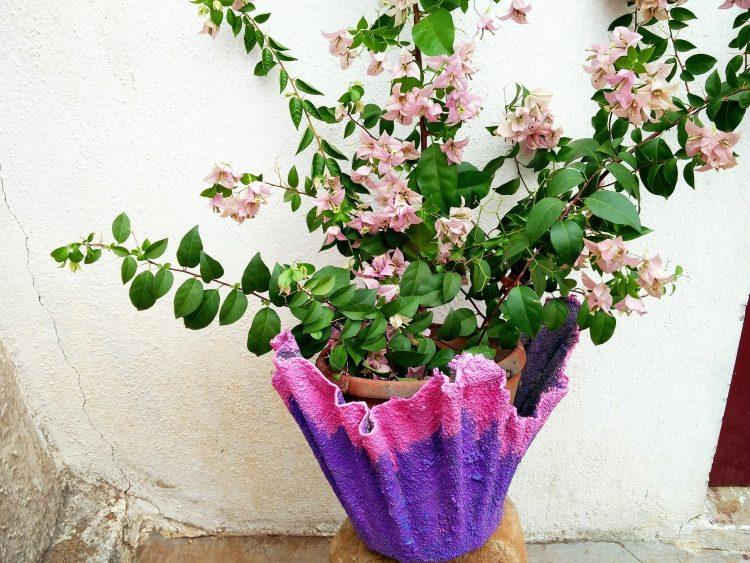 hypertufa planter, tutorial, akila, gardening project