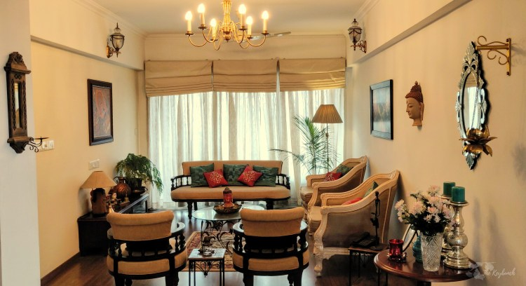 Jayashree Rajan's garden apartment tour on The Keybunch: Antique Living Room