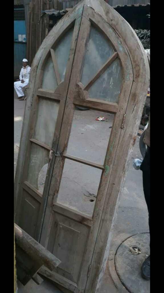 An old abandoned church door