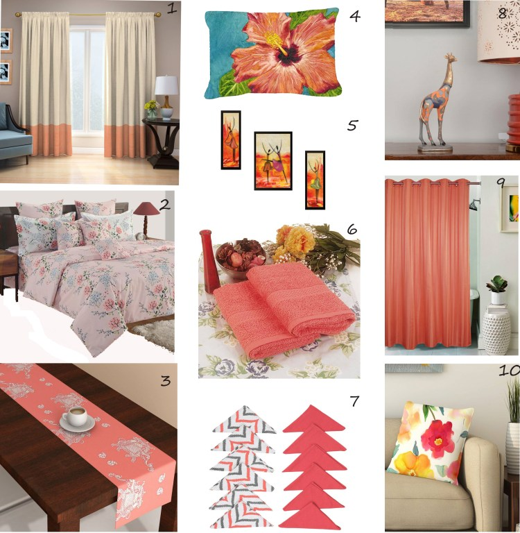 Living Coral Moodboard - Pantone Color of the Year 2019