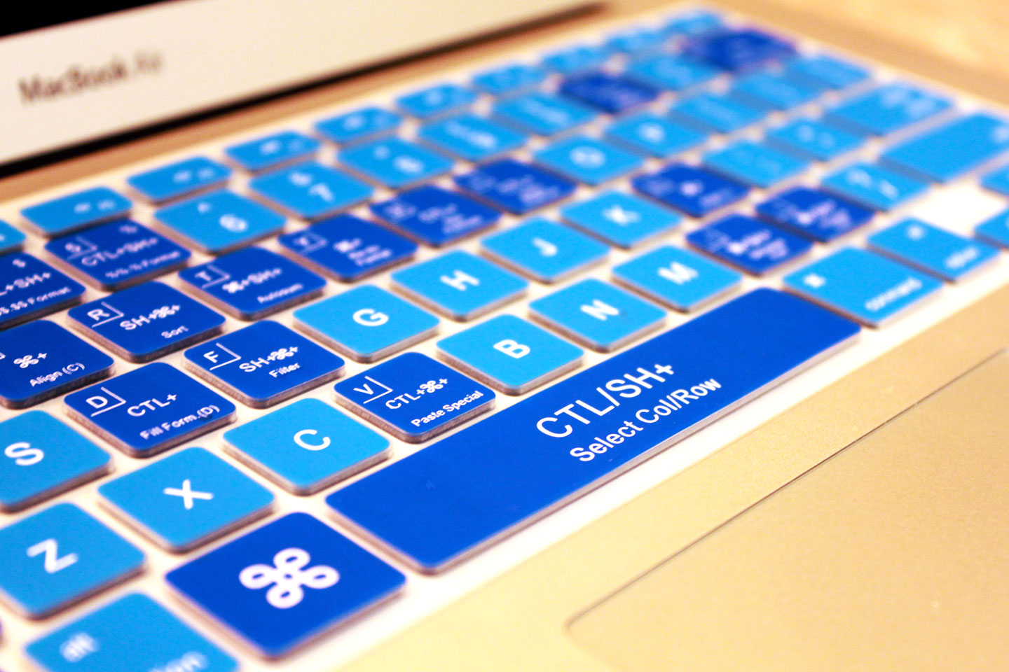 Cool Blue Excel Keyboard Cover  KeyCuts