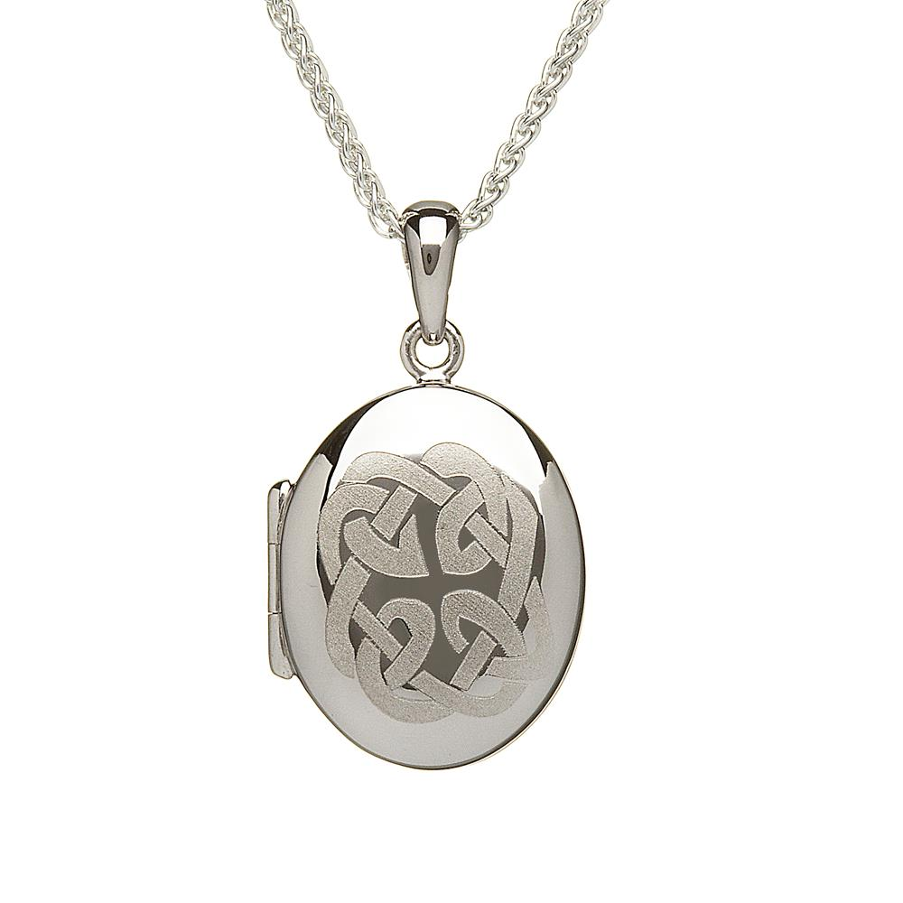silver sterling lockets celtic necklace z letter initial