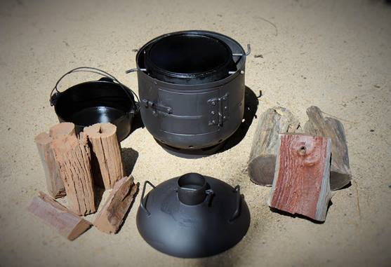 Camp oven lid as fry pan