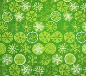 A - green snowflakes