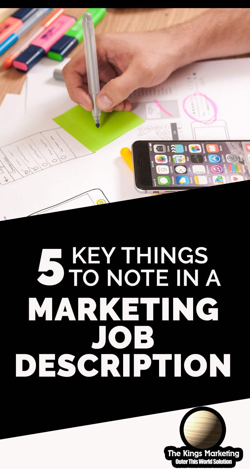 5 Key Things to Note in a Marketing Job Description