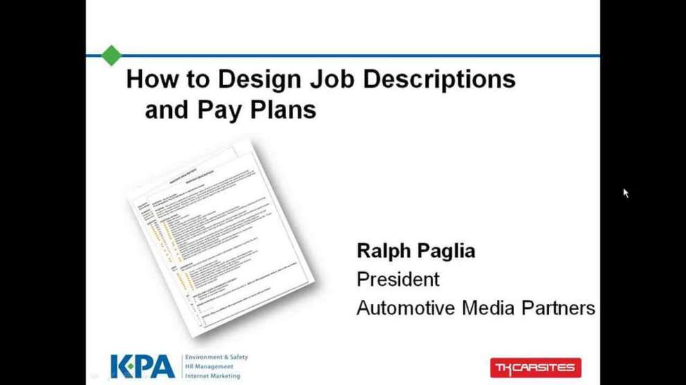Marketing Job Description