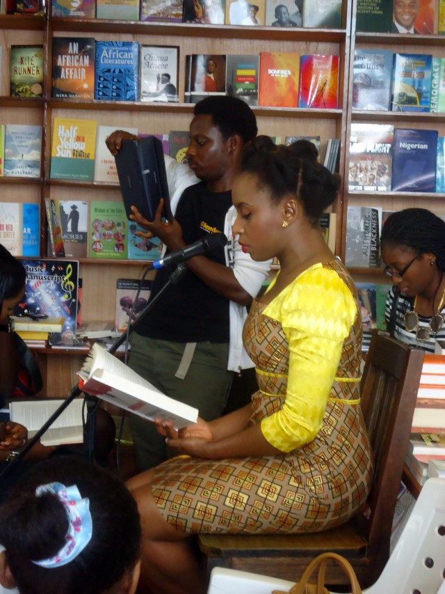 Chimamanda Adichie- Americanah- Book Reading at Glendora Bookshop Ikeja- Natural Hair