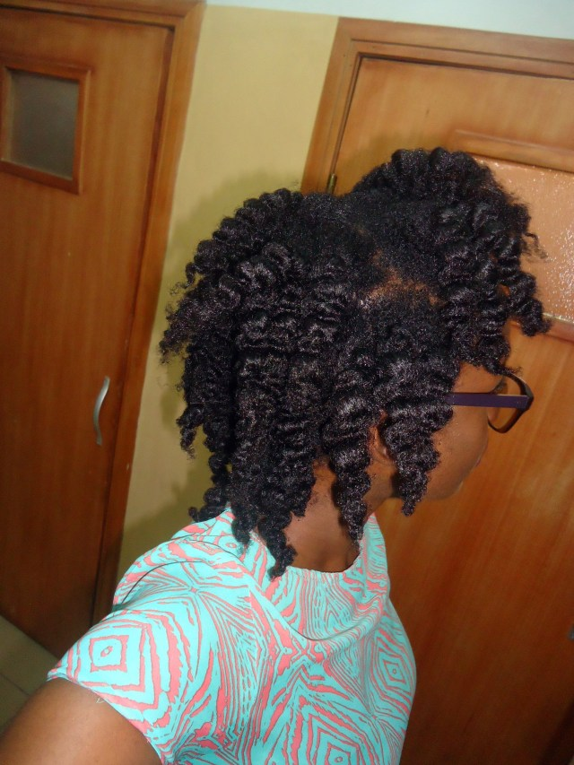 Natural hair- natural hairstyles- Chunky braidout with Aunt Jackie's Curl La La Curl Defining Custard