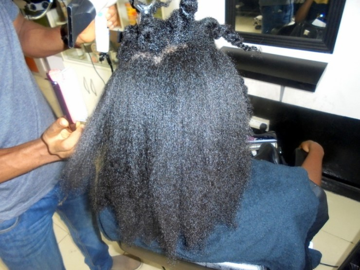 Blown out 4C Natural Hair