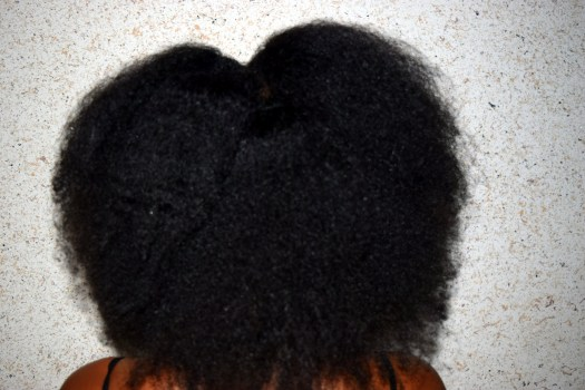 Heatless Blowout on 4C Natural Hair with African Threading