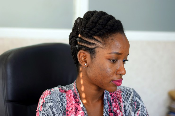 Professional Natural Hairstyle for 4C Hair- Flat Twist Updo- The Kink and I
