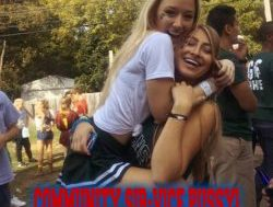 COLLEGE GIRLS OFFER COMMUNITY SIR-VICE PUSSY!