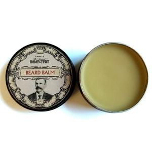 Beard Balm with Open Lid