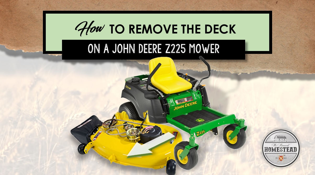 How to Remove the Deck on a John Deere Z225 Mower
