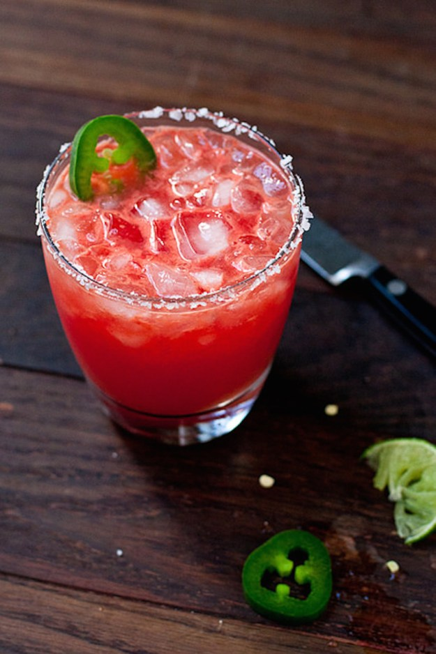 spicey watermelong margarita, taco and tequila theme party