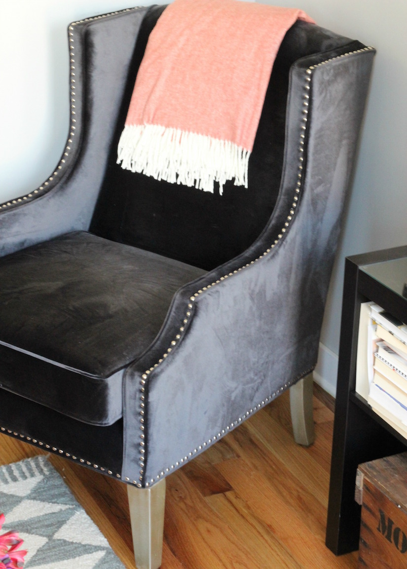 Navy Velvet Chair From The RoomPlace Navy Blue Velvet Accent Chair By The  Roomplace