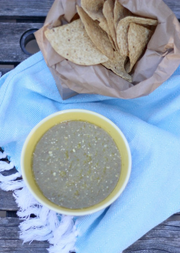 The Kissing Booth Blog - Homemade green salsa