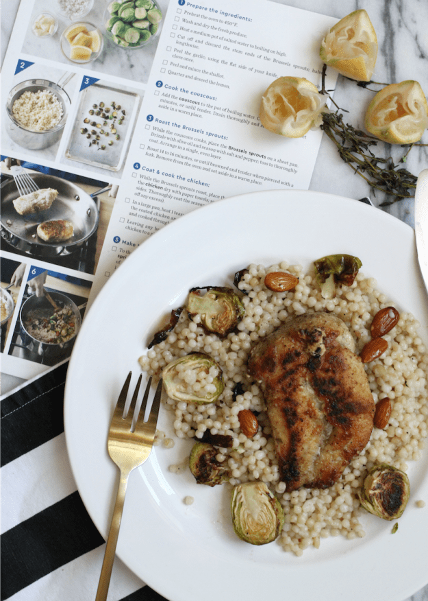 Blue Apron - Za'atar- Spiced Chicken dinner