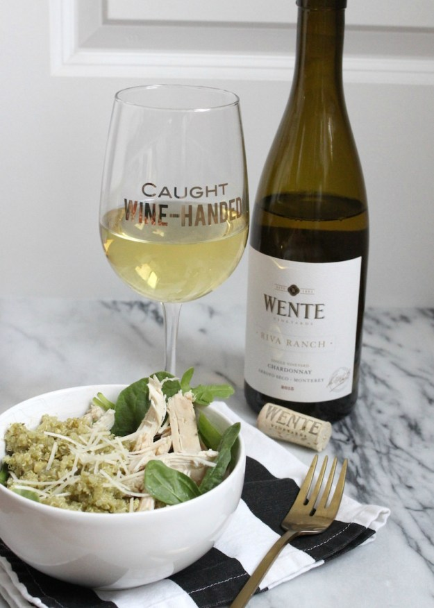 Dinner with Wente Chardonnay wine