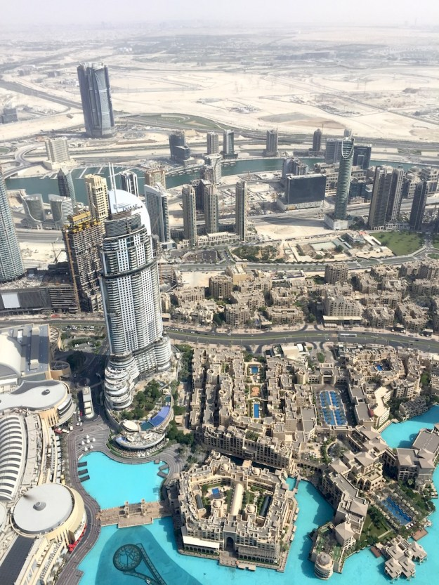 Standing at the top of the Burj Khalifa