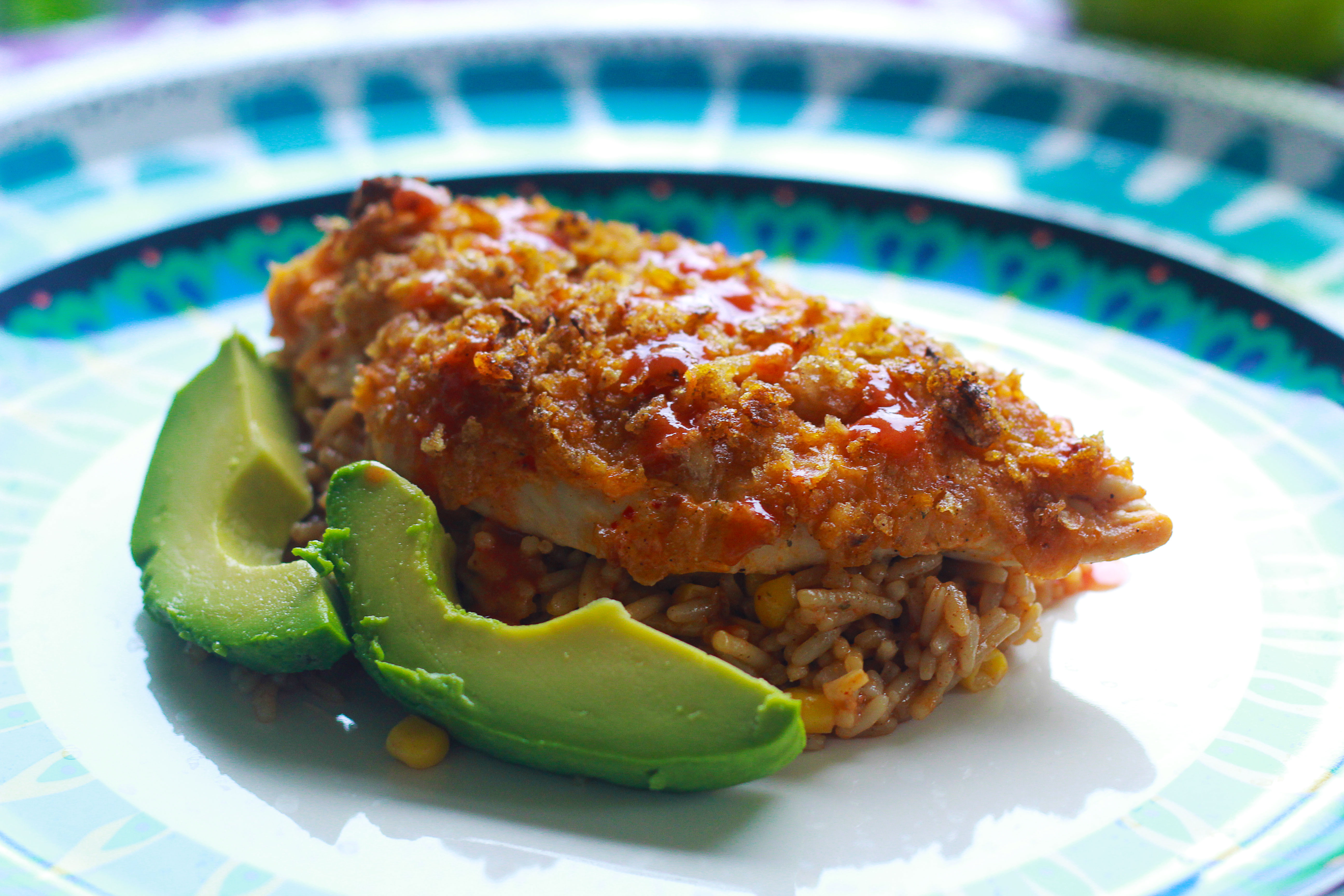 Chip-Crusted Buffalo Ranch Chicken