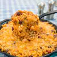 Campfire Cheater Chili Mac Skillet