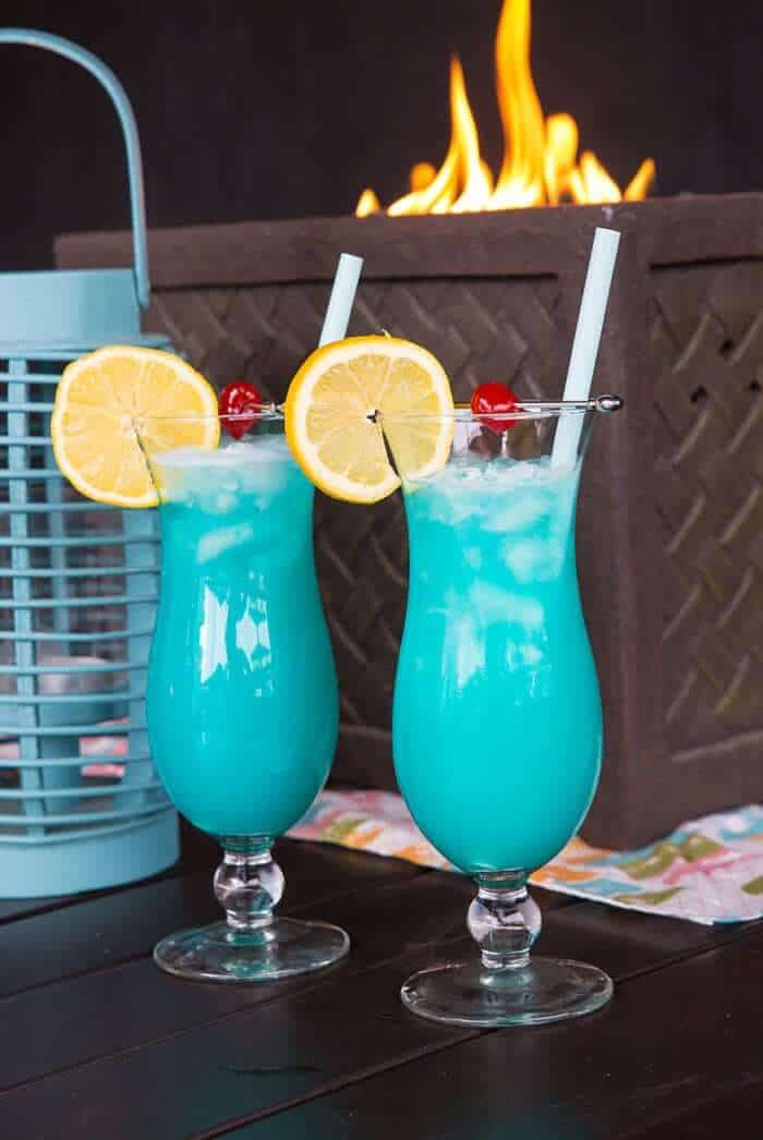 The Blue Lagoon Cocktail Drink  The Kitchen Magpie